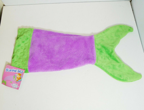 "Blankie Tails 18"" Doll Mermaid Tail Blanket - Purple Tail"