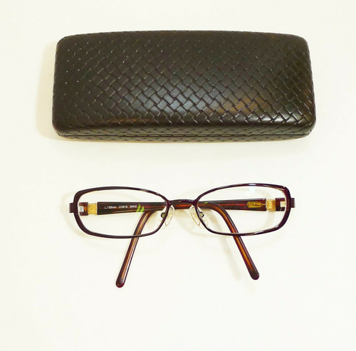 Cole Haan L.135mm 53-16 CH919 Wine Eyeglass Frames w/Prescription Lenses