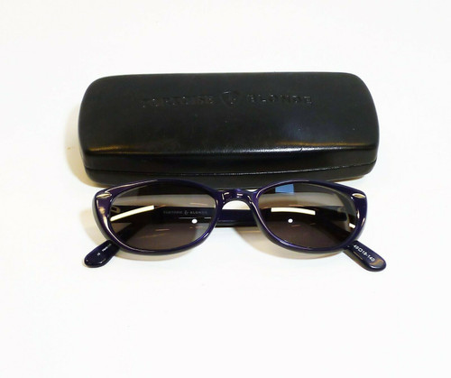 "Tortoise & Blonde ""Jane"" Deep Purple Frames  49/18-140 *With Prescription Lenses"