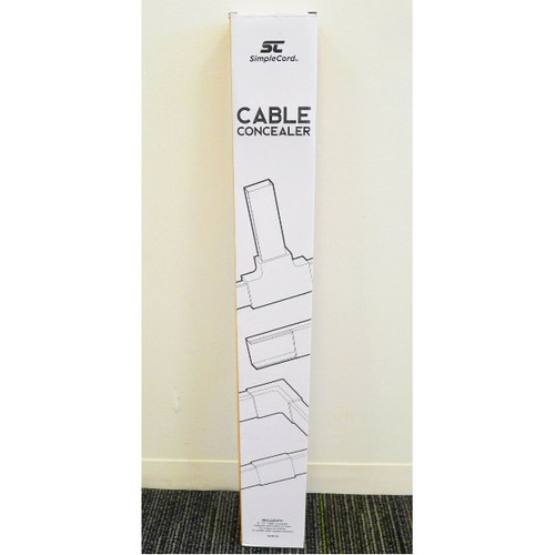 SimpleCord Cable Concealer Cord Wire Cable Cover Raceway in White