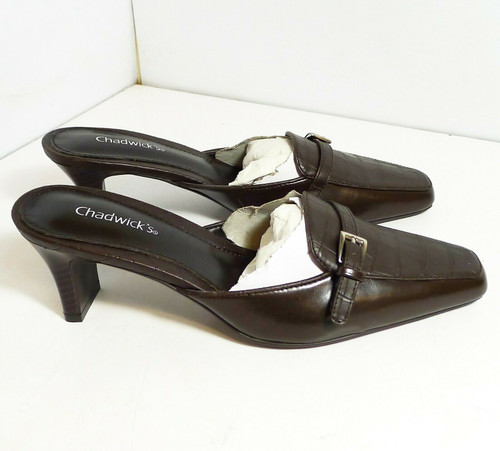 Chadwick's Women's Pump Heels Shoes in Dark Brown Size 7.5