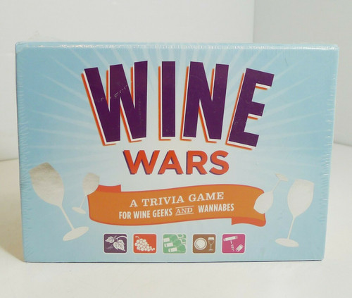 Wine Wars Trivia Game For Wine Geeks and Wannabes NEW