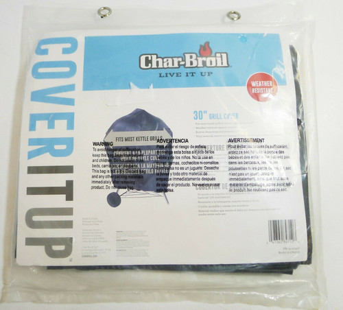 """Char-Broil 30"""" Vinyl Weather Resistant Kettle Grill Cover  NEW"""