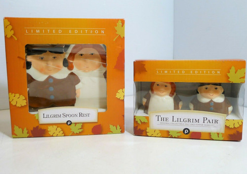Ligrim Limited Edition Set - Salt and Pepper Shakers with Spoon Rest