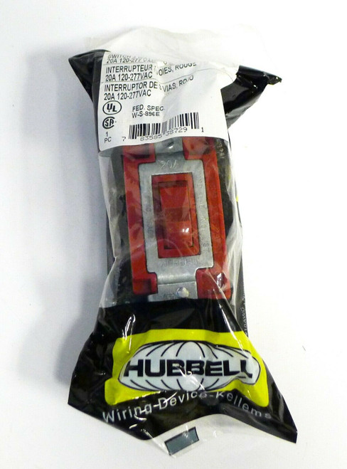 Hubbell Wiring Device Switch 3 Way in Red CS1223R NEW