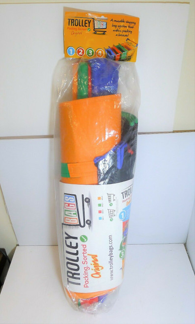 Original Trolley Bags Reusable Shopping Packing Sorted (4-Bags)  NEW