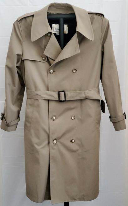 Clipper Mist Londontown Removable Liner Trench Coat Size 42 Long 42L