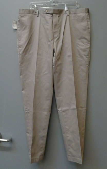 Jos. A. Bank Traveler Tailored Fit Plain Front Grey Pants 40W x 30L NEW NWT