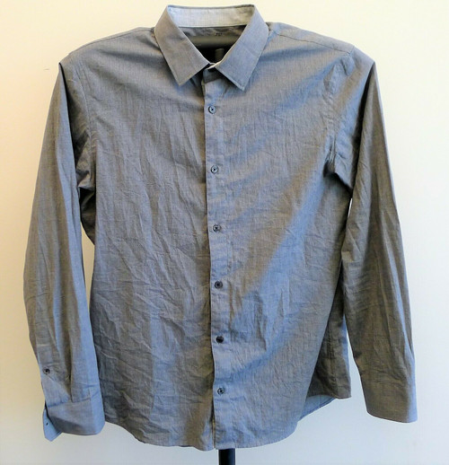 Michael Kors Men's Gray Long Sleeve Button Down Shirt Size Large L   RN 111818