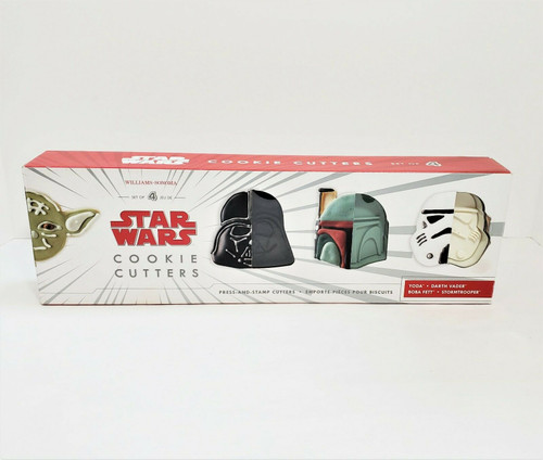 Williams Sonoma Star Wars Cookie Cutters Set of 4 - Yoda and More - OPEN BOX