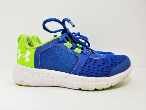 Under Armour Boy's Blue/Green GS Micro G Fuel RN Size 11K
