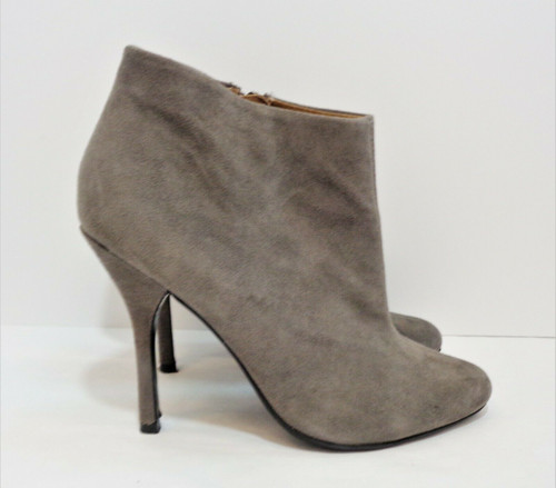 Aldo Women's Gray Dolly Suede Side Zip High Heel Ankle Boots Size 9