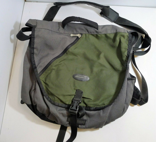 Eddie Bauer Gray/Green/Black Backpack with Shoulder Strap and Carry Handle