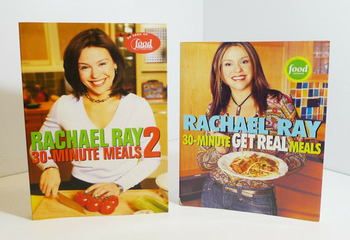 Rachael Ray 30-Minute Meals 1 & 2 Softcover Cookbooks