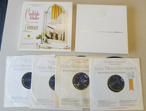 Longines Symphonette Society Candlelight Melodies Feat. Liberace 4-Album Record