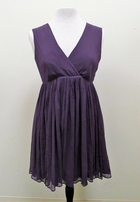 Rosie Pope Maternity Mini Empire Dress in Royal Plum  Size M Medium NWT