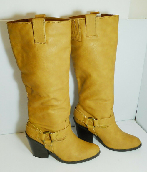 "JustFab ""Lonnie"" Women's Synthetic Equestrian Style Tall Boots Size 8.5"