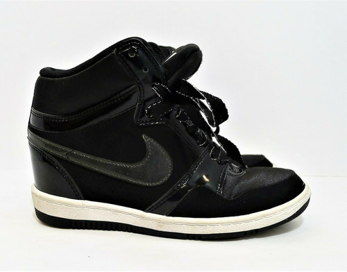 Nike Women's Black Air Force Sky High Wedge Black Anthracite Size 6 - 629746-001