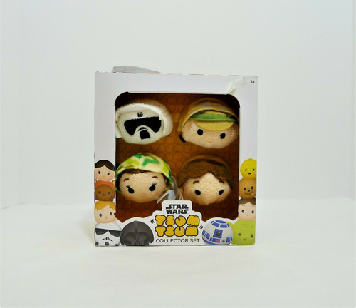 Star Wars Tsum Tsum Collector Set - Luke, Han Solo, Leia, and Scout Trooper