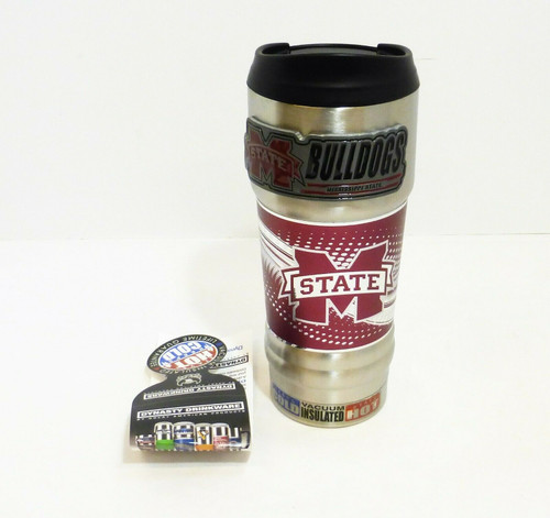 Mississippi State 18oz. Stainless Steel Insulated Hot/Cold Beverage Mug  NEW