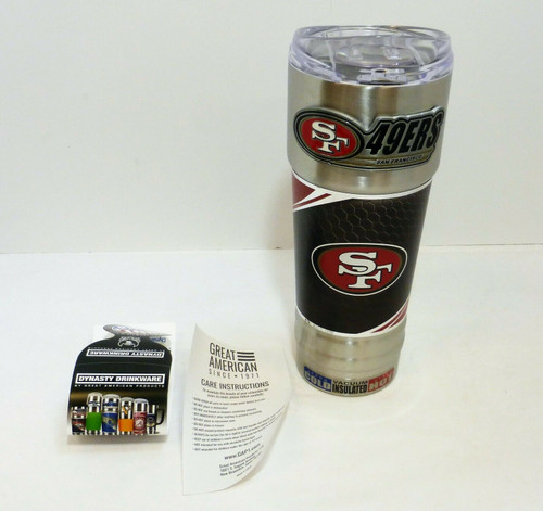 San Francisco 49er's 32oz. Stainless Steel Hot/Cold Insulated Beverage Mug NEW