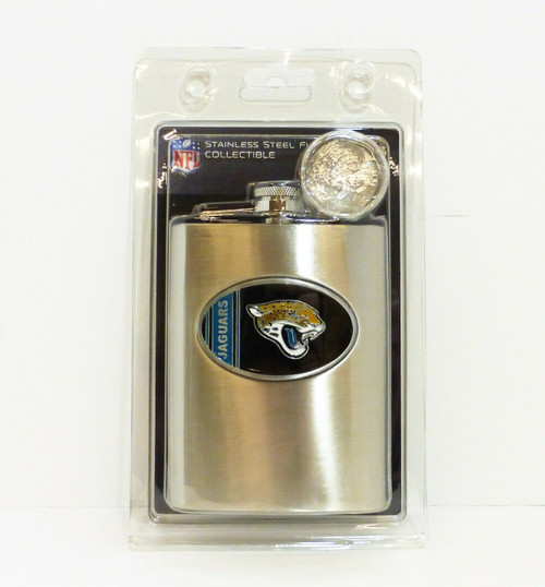 Bar Basics NFL Jacksonville Jaguars 8oz. Stainless Steel Flask NEW