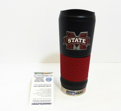 Mississippi State 24oz. Stainless Steel Hot/Cold Insulated Beverage Mug   NEW