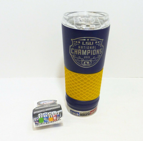 LSU 2019 National Champion 24oz. Stainless Steel Hot/Cold Insulated Beverage Mug