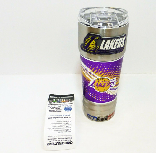 Los Angeles Lakers 32oz. Stainless Steel Hot/Cold Insulated Beverage Mug  NEW