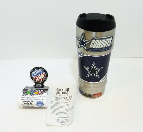 Dallas Cowboys 18oz. Stainless Steel Insulated Hot/Cold Beverage Mug NEW