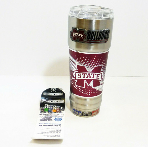 Mississippi State 32oz. Stainless Steel Hot/Cold Insulated Beverage Mug  NEW