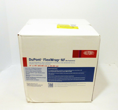 "DuPont FlexWrap NF 9"" x 75' Self Adhered Butyl Flashing Tape  NEW"