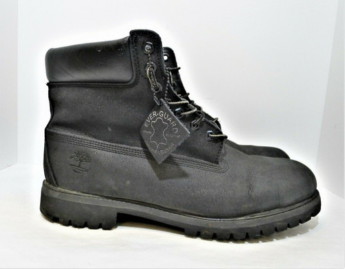 Timberland Men's Black Nubuck Leather Waterproof 6 Inch Boots Size 13 M