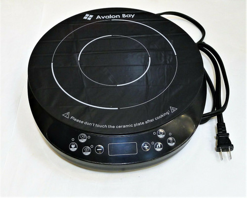 Avalon Bay Black Portable Induction Cooktop Electric Burner  Model IC200B