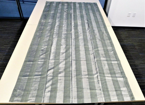 "CB2 Gray Velvet Stripe Panel 48"" x 96"" 645-444"