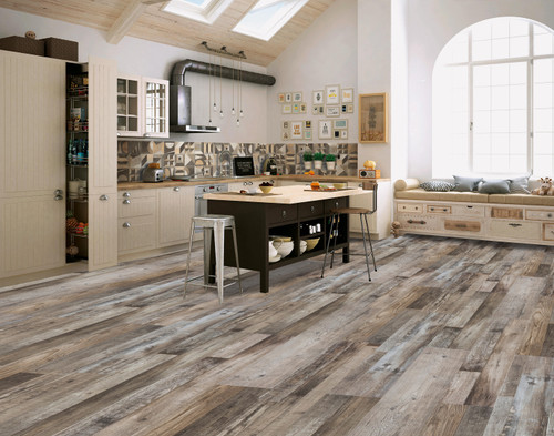 RUSTIC BARNWOOD 12MM SPC FLOORING (Local Pickup Item)