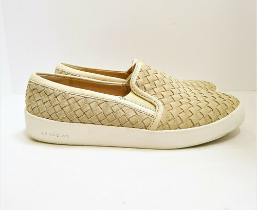 Cole Haan Women's Sand Leather Grandpro Spectator Slip On Shoes Size 9 B