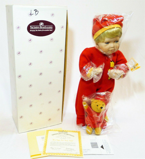 The Ashton Drake Galleries It's Time For Bed, Pooh Doll #76042