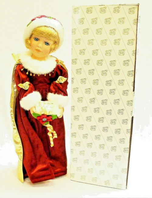 "The Heritage Signature Collection 1999 Christmas Caroline 17"" Porcelain Doll"