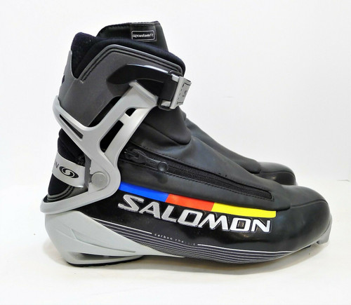 Salomon Black Carbon Chassis Ski Skate Boots - Size US 9.5 UK 9 CM 27.5 - 786092