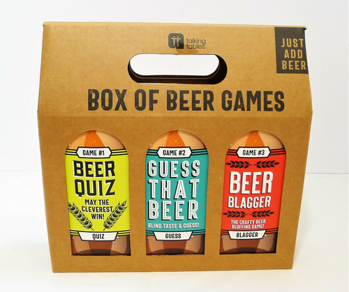 Talking Tables Box Of Beer Games Kit Carrying Case - NEW