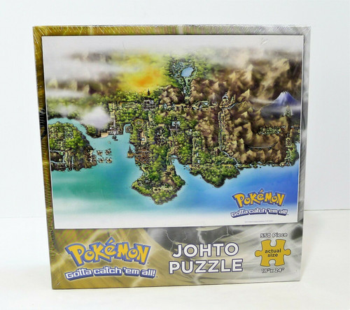 "Pokemon Johto Puzzle 550 Piece 18"" x 24"" -  NEW SEALED"