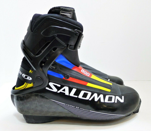 Salomon Black Carbon Chassis Ski Skate Boots - Size US 5 UK 4.5 CM 23 - 786092