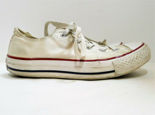 Converse All Star White Low Top Casual Sneakers Size Men's 4 Women's 6 - M7652