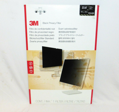 3M Privacy Filter for 23.6 in. Widescreen Monitor PF23.6W9B Black