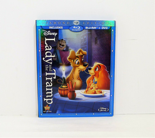 Disney Lady and the Tramp Diamond Edition Blu-Ray Only- NO DVD