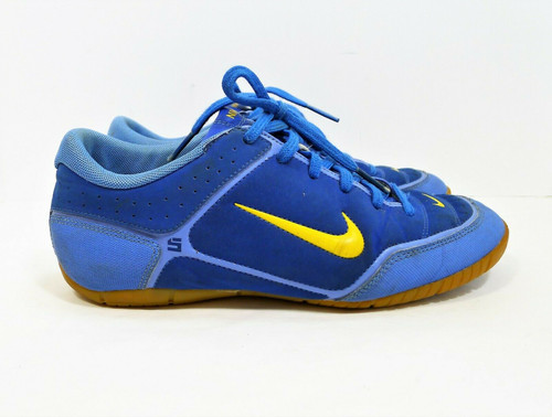 NIKE Women's Blue and Yellow FTII Indoor Soccer Shoes 2008 Size 7.5