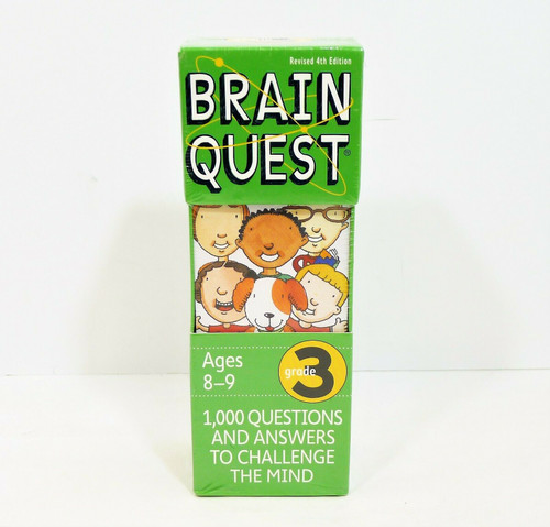 Brain Quest Grade 3 Revised 4th Edition 1,000 Questions and Answers - NEW SEALED