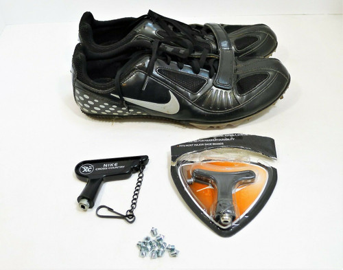 Nike Men's Black Zoom Rival S5 Track Spikes Shoes Size 7.5 with Spikes and Tool