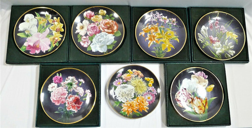 7 Anna Perenna The Flowers of Count Lennart Bernadotte Collector's Plates